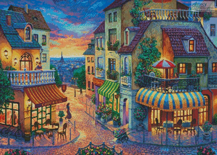 Europe Street - Cross Stitch Chart
