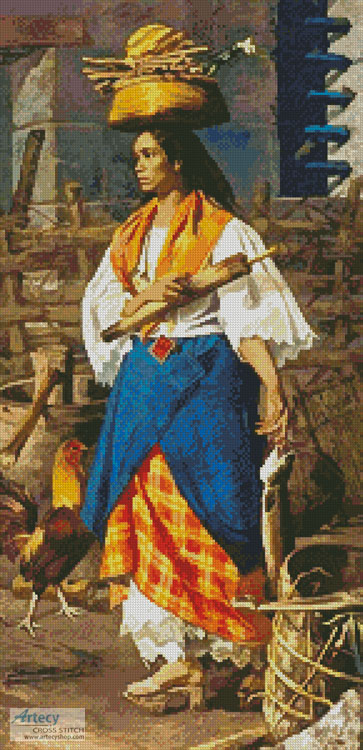 Filipino Woman - Cross Stitch Chart