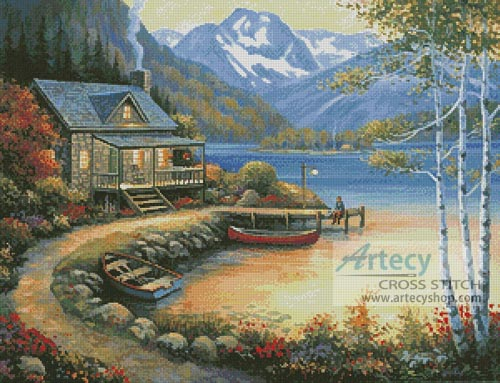 Fishing at the Lake - Cross Stitch Chart