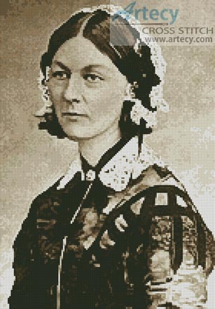 Florence Nightingale - Cross Stitch Chart