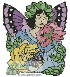 Flower Fairy 2 - Cross Stitch Chart