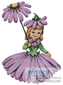 Flower Girl 2 - Cross Stitch Chart