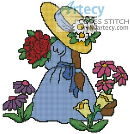 Flower Girl - Cross Stitch Chart