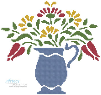 Flower Pitcher - Cross Stitch Chart
