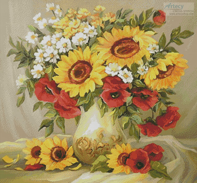 Flowers of Summer - Cross Stitch Chart