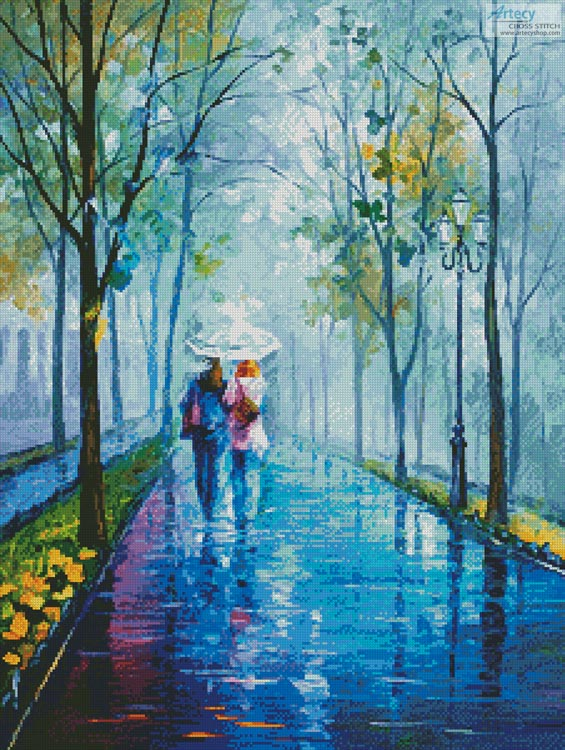 Foggy Stroll - Cross Stitch Chart