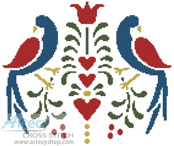 Folk Art Birds - Cross Stitch Chart