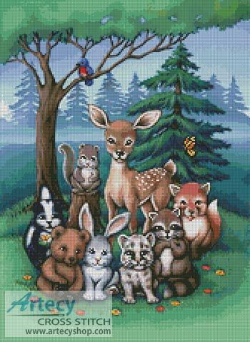 Forest Family - Cross Stitch Chart
