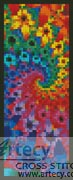 Fractal Bookmark - Cross Stitch Chart