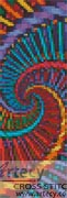 Fractal Spiral Bookmark - Cross Stitch Chart