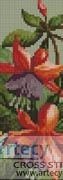 Fuschia Bookmark - Cross Stitch Chart