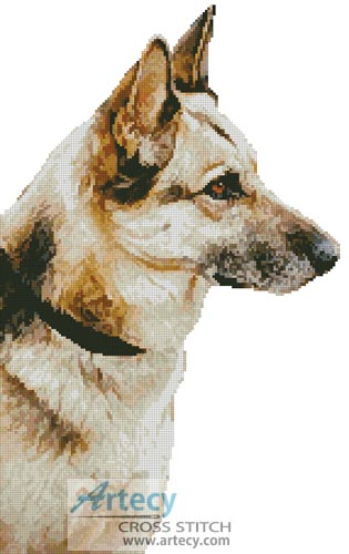 German Shepherd 2 - Cross Stitch Chart