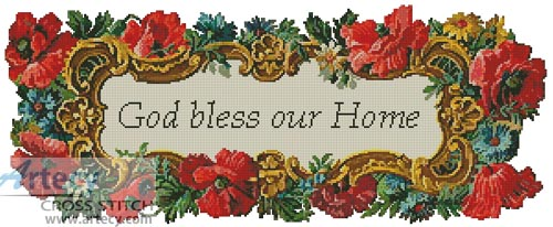God Bless our Home - Cross Stitch Chart