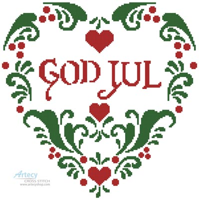 God Jul - Cross Stitch Chart