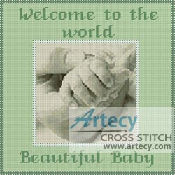 Baby Sampler (Green) - Cross Stitch Chart