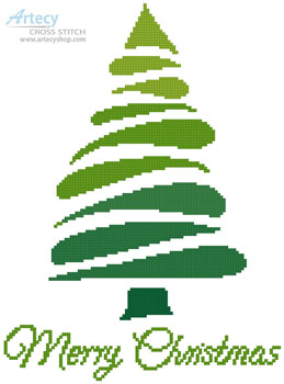 Green Christmas Tree - (Facebook Group) Cross Stitch Chart