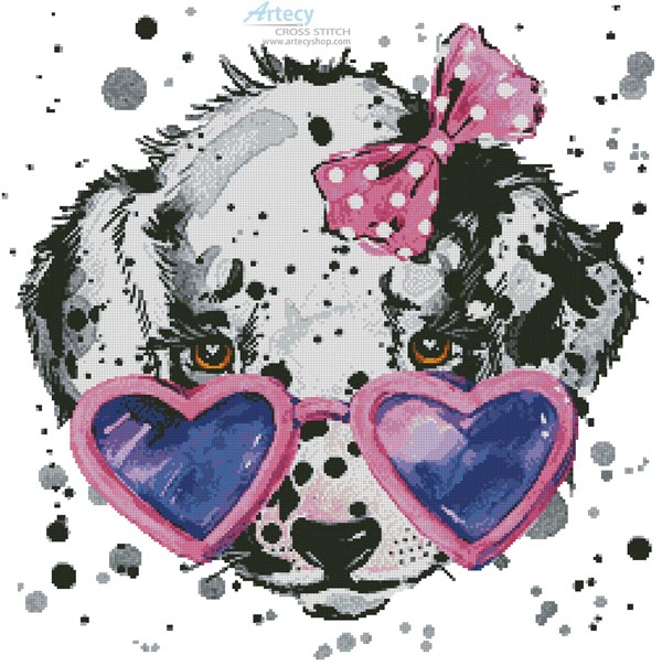 Groovy Pup - Cross Stitch Chart