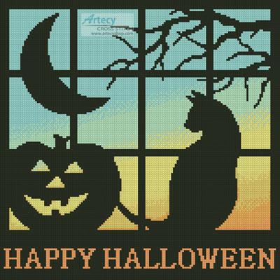 Halloween Square 2 - Cross Stitch Chart