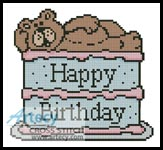 Happy Birthday Card - Cross Stitch Chart