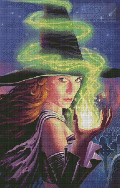 Hex of the Wicked Witch - Cross Stitch Chart