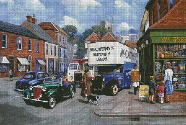 High Street 1950s - Cross Stitch Chart