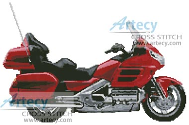 Honda Goldwing Motorcycle - Cross Stitch Chart