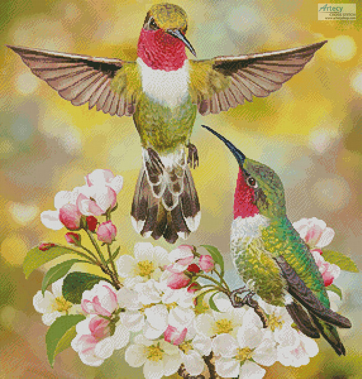 Hummingbird Challenger - Cross Stitch Chart