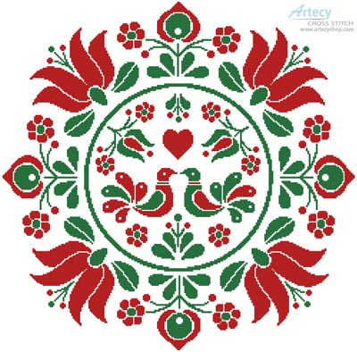 Hungarian Folk Art Design - Cross Stitch Chart