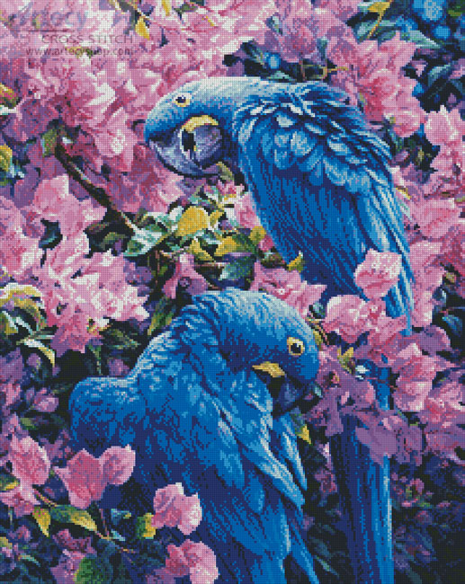 Hyacinth Macaws - Cross Stitch Chart