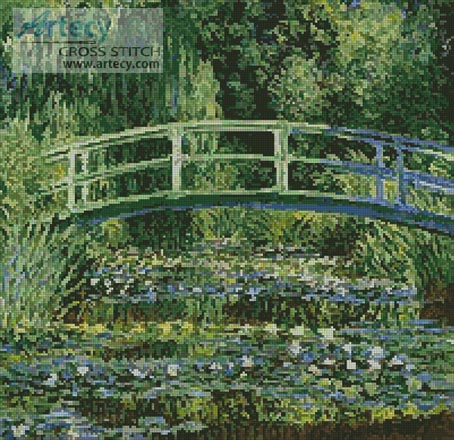 The Japanese Bridge - Cross Stitch Chart