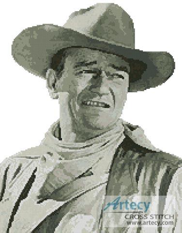 John Wayne - Cross Stitch Chart