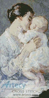 Julia Payne and her son Ivan - Cross Stitch Chart