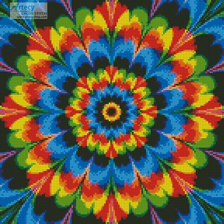 Kaleidoscope 1 (Crop) - Cross Stitch Chart