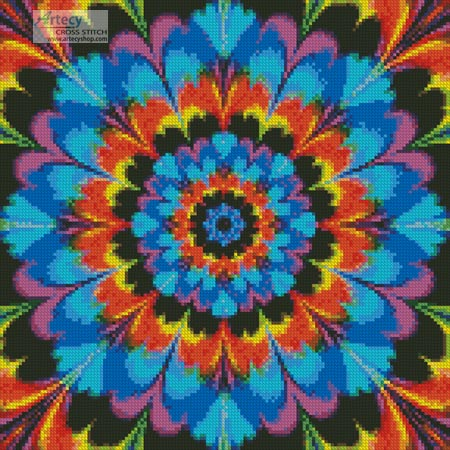 Kaleidoscope 2 (Crop) - Cross Stitch Chart