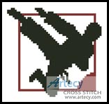 Karate Card - Cross Stitch Chart