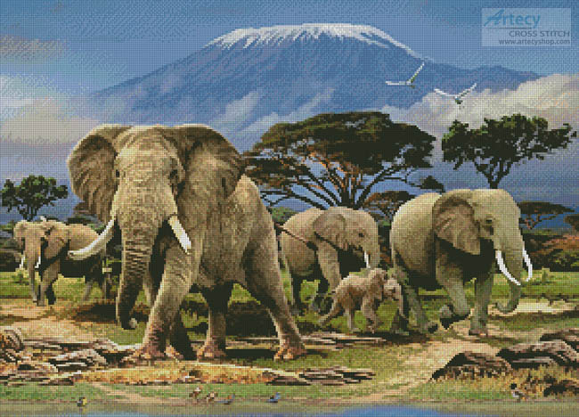 Kilimanjaro Morning - Cross Stitch Chart