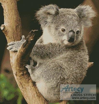 Koala on a Branch - Cross Stitch Chart