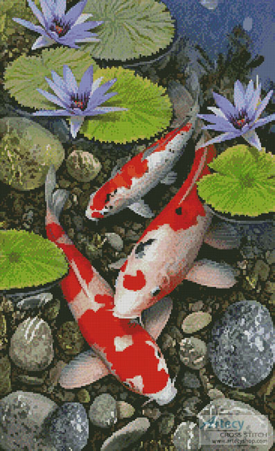 Koi Pond - Cross Stitch Chart
