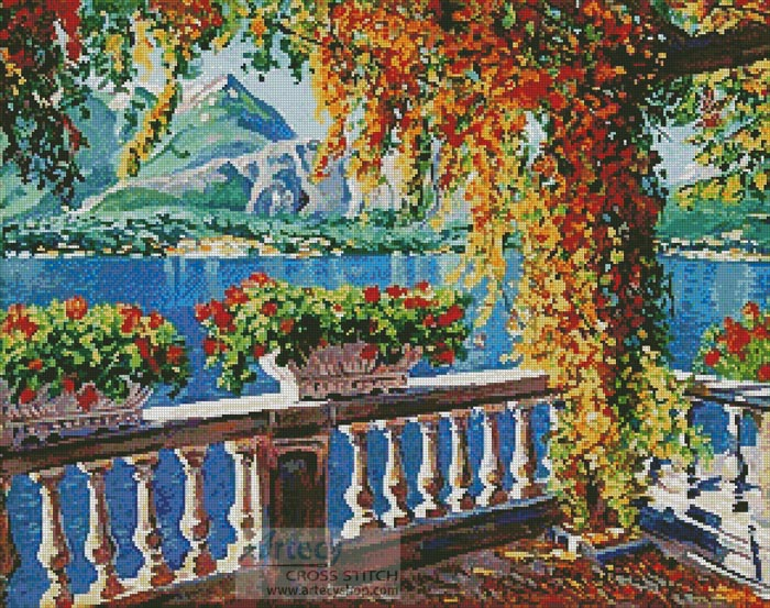 Lake Como - Cross Stitch Chart