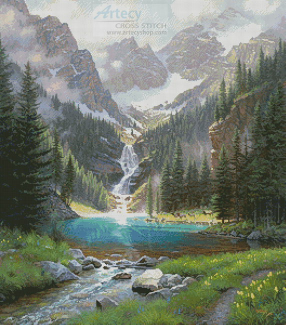 Lake Solitude - Cross Stitch Chart