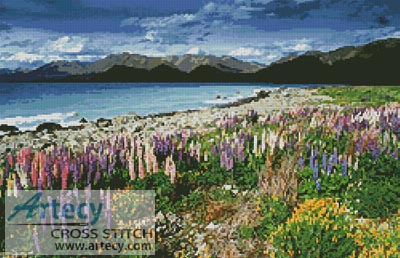 Lake Tekapo, New Zealand - Cross Stitch Chart