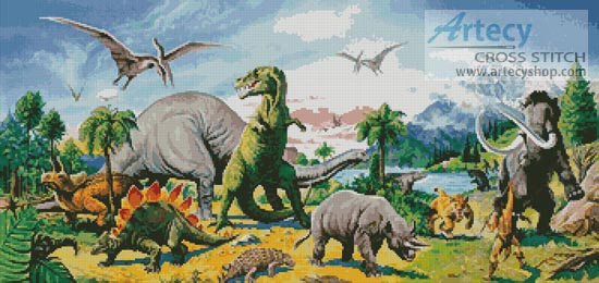 Land of the Dinosaurs - Cross Stitch Chart