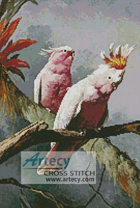 Leadbeater Cockatoos - Cross Stitch Chart