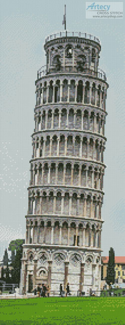 Leaning Tower of Pisa (Crop) - Cross Stitch Chart
