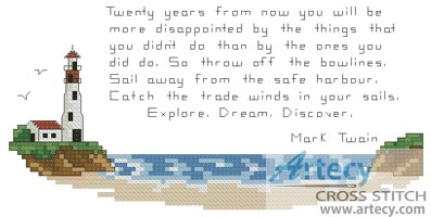 Lighthouse - Cross Stitch Chart
