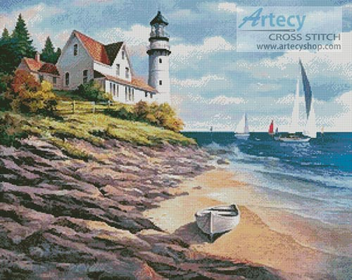 Lighthouse Cove - Cross Stitch Chart