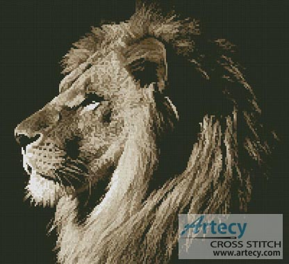 Lion Profile - Cross Stitch Chart