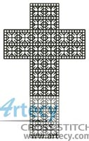 Little Blackwork Cross - Cross Stitch Chart