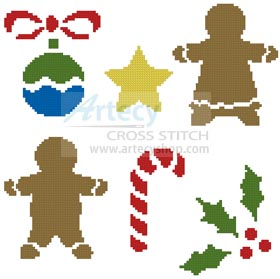Little Christmas Motifs - Cross Stitch Chart