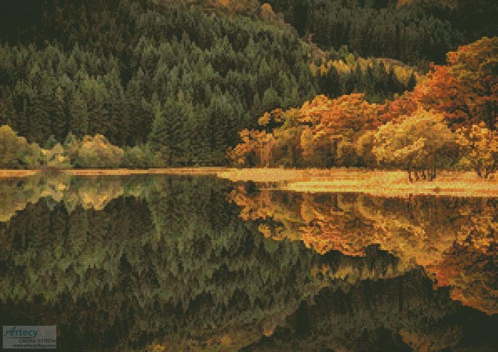 Loch Chon in Autumn - Cross Stitch Chart